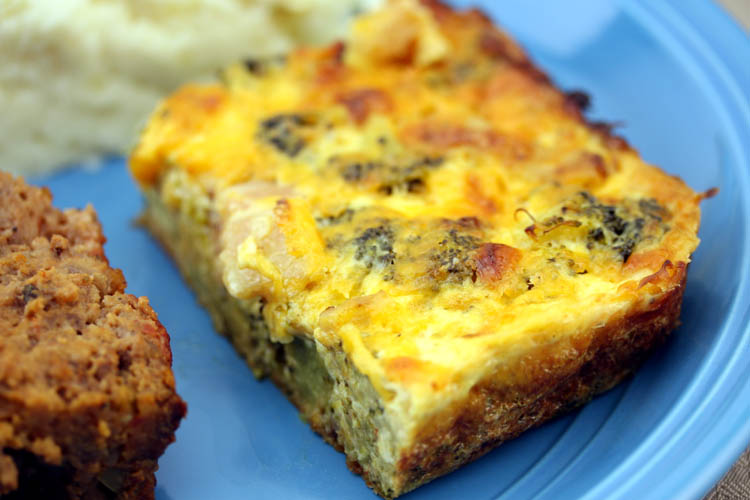 Above broccoli n cheese casserole baked and served on 09-03-13 with ...