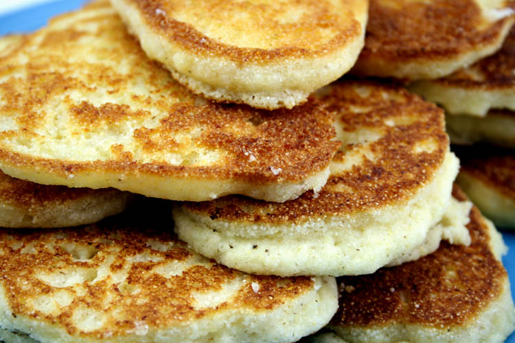 Pan Fried Cornbread Cakes