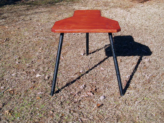 High Quality Below Pixs Of The Portable Shooting Bench With A Coat Of Cabot; Product  Australian Timber Oil In A Mahogany Flame Color # 3459.